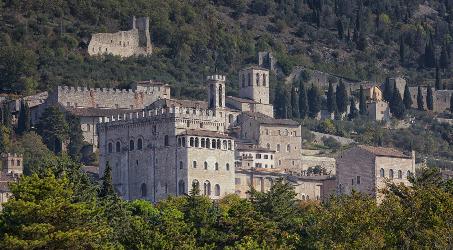 panorama della città di Gubbio