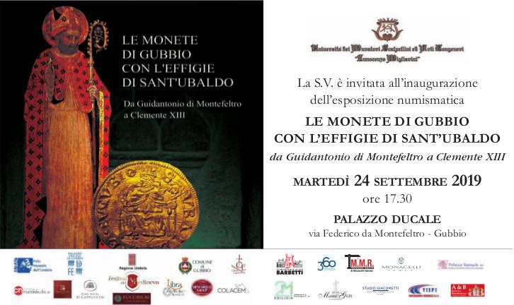 LE MONETE DI GUBBIO CON L'EFFIGIE DI SANT'UBALDO da Guidantonio di Montefeltro a Clemente XIII